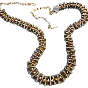 Designer Shirred Satin Ribbon & Crystal Glass Bead Statement Necklace by Kenneth Cole