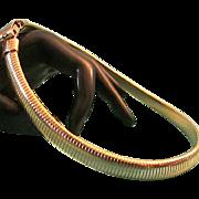 Slinky TRIFARI Gold Tone Omega Choker Necklace