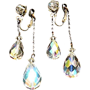 Gorgeous Crystal Dangle AB Clips Reflect Colors of the Rainbow