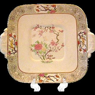 SALE Lenox MING-BIRDS Square Handled Cake Plate