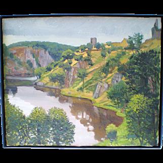 Chateau de Crozant Oil on Canvas by James Lancel McElhinney