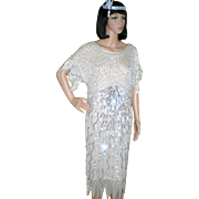 Vintage Beaded Flapper Dress - Great Gatsby Style