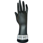 Vintage Faux Pearl and Rhinestone Bracelet