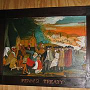 Folk Art Painting  Penn's Treaty