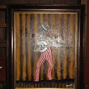 Original Painting on Canvas  Minstrel Man