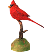 Hand Carved Cardinal by Keith Collis