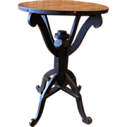Yadkin County, NC Walnut Folk Art Candlestand