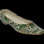 Mottahedeh Ceramic Green Paisley Woman's Shoe