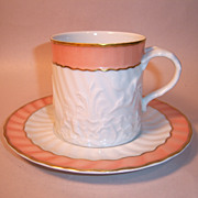 "Mottahedeh ""Salmon Swan"" Cup and Saucer"