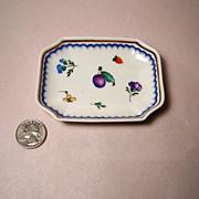 """Ginori """"Italian Fruits"""" (Antico Doccia) Small Tray"""