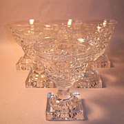 Vintage Kosta Edvin Ollers GEORGIAN Crystal Liquor Cocktail, Set Six