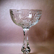 Set (6)Rare Seneca Cut Crystal 1936-5 Sherbets/Champagnes