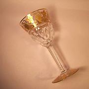 """Val St. Lambert  Pampre D'Or 5 7/8"""" White Wine Goblet"""