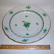 """Herend Chinese Bouquet Green 12"""" Chop Plate"""