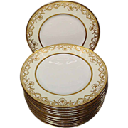 Royal Doulton Gold Encrusted Dinner Plates, Stunning!