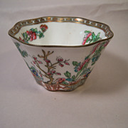 Coalport Indian Tree Scalloped Open Sugar Bowl
