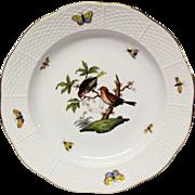 Herend Rothchilds Bird Dinner Plate  #1518