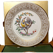 Lenox Boehm Bird Collector Series Meadow Lark Plate