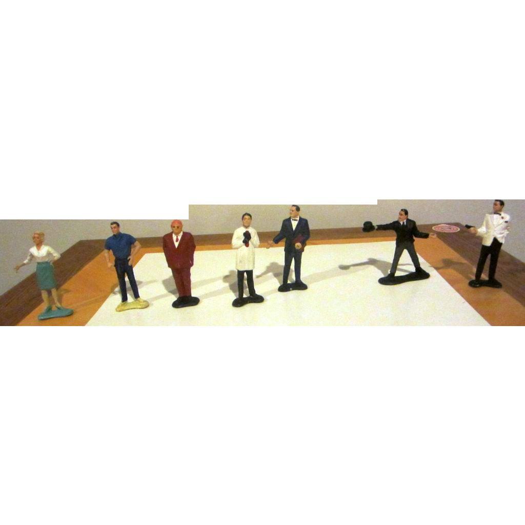 James Bond figurines vintage set of characters