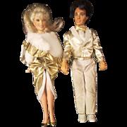 Vintage JEM dolls RIO and JEM Glitter N' GOLD 1980's original