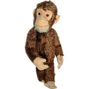 Schuco Yes No Monkey 1930's move tail head turns chimpanzee mohair
