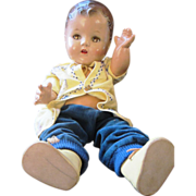 """Vintage Composition Baby SALLY 17"""" IDEAL TOY T-17 doll , 1930's"""