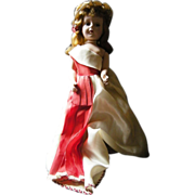 Sweet Sue Vintage 1950's doll in satin gown, pearl headband, pretty
