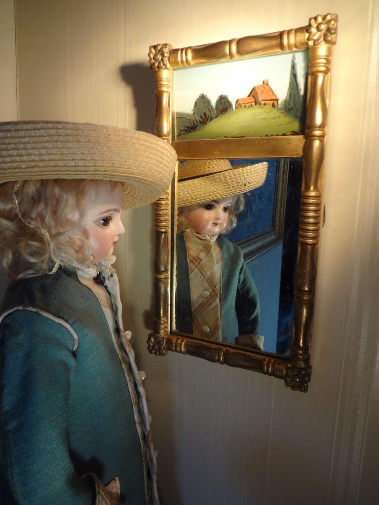 Miniature Eglomise Mirror