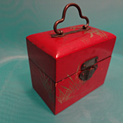 Red Lacquer Oriental Box