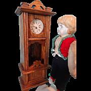 German Oak Grandfather Clock