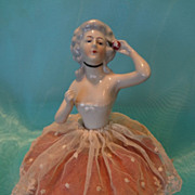 German Half Doll Pincushion with Arms Away