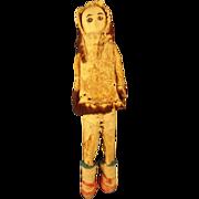 Native Alaskan Bone Carved Doll
