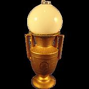 German Gilt Metal Doll House Lamp