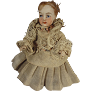All Bisque Swivel Head Doll House Doll