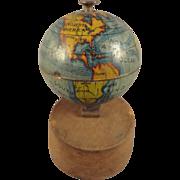 Miniature World Globe on Stand