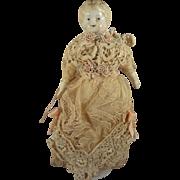"6 1/2"" Blonde Hair China Doll House Doll German"