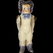All Bisque Miniature Bonnet Head Doll