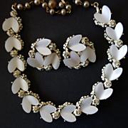 BSK Heart-Shaped Necklace & Earrings
