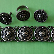 Mexican Sterling 980 Silver/Bracelet/Ring