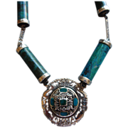 Peruvian Sterling Silver Chrysocolla Necklace