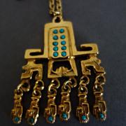 Salvador Teran Marbel Pendant/Chain