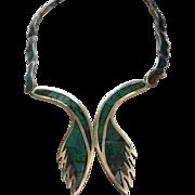 LOS CASTILLO MOSAICO AZTECA Sterling Silver Necklace