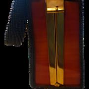 BAKELITE 1920's-30's Black Beaded Box Purse/Handbag