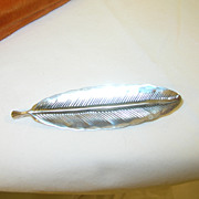 Stuart Nye Sterling Brooch Leaf