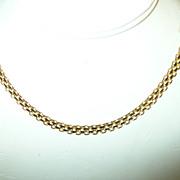 Vintage Necklace  Sterling & Vermeil Woven Design