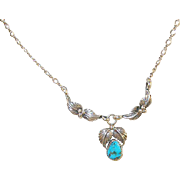 Vintage Sterling & Turquoise Necklace