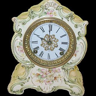 SALE Vintage Ansonia Towanda Case Clock 8 day
