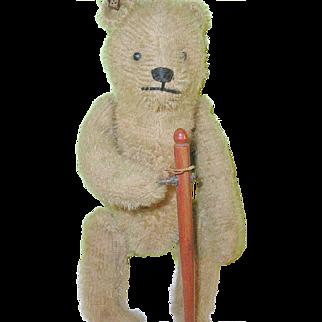 "SALE Antique Bing Wind-up Bear 8"" Original Tin Ear Tag G.B.N.1907-1910"