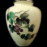 Ando Jubei Cloisonne' Vase with Shakudo Mounts