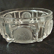 EAPG Frosted U.S. Coin Flat Bottom Sauce Dish of 1892